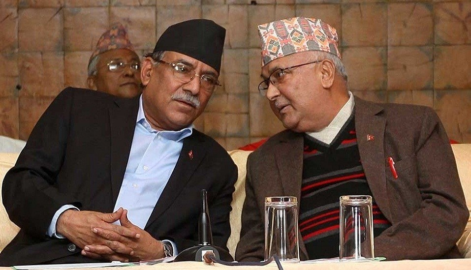 Ruling NCP Chairman KP Oli and Prachanda meet, PM says no distance ...