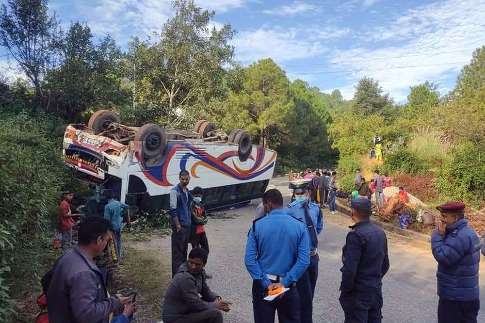 Road accidents, a misery in Dashain travels